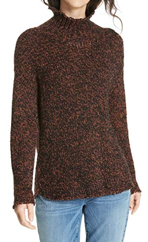 (Eileen Fisher Women's Small Funnel Neck Sweater Brown S)