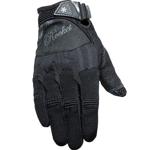 Joe Rocket Heartbreaker Women's Textile Street Motorcycle Gloves - Black/Black / (Women Street Bike Apparel)