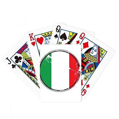 Italy National Flag Europe Country Symbol Poker Playing Cards Tabletop Game Gift by beatChong