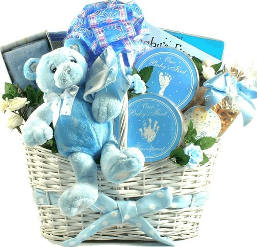 Deluxe Baby Boy Keepsakes Gift Basket With A Little Something For