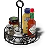 Spectrum Condiment Stand and Holder, Black Twist