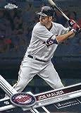 2017 Topps Chrome #54 Joe Mauer Minnesota Twins Baseball Card