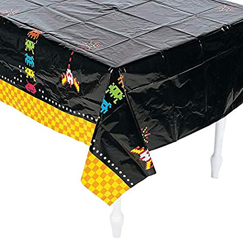 Fun Express 80's Party Plastic Tablecloth | 54