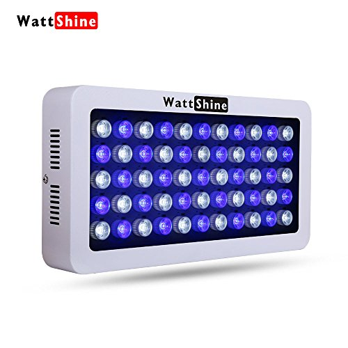LED Aquarium Light, Dimmable 2 Bands For Coral Reef Grow, Fish, Freshwater, Saltwater Marine Tank Plants | WATTSHINE | 165W | MAD165S