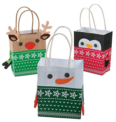 Craft Christmas Gift (Christmas Sweater Character Mini Gift Bag Craft Kit - 1)