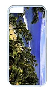 MOKSHOP Adorable Hawaii Beach Hard Case Protective Shell Cell Phone Cover For Apple Iphone 6 Plus (5.5 Inch) - PC White by Maris's Diary