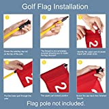 KINGTOP Numbered Golf Flag with Tube