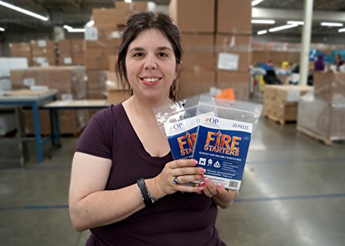 OP Social Enterprises Fire Starters, 100 Fire Starting Sticks (5 bags of 20)