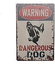 SignWork Warning Sign Safety Property Dangerous Dog Sign 8x12 inch Metal Waterproof