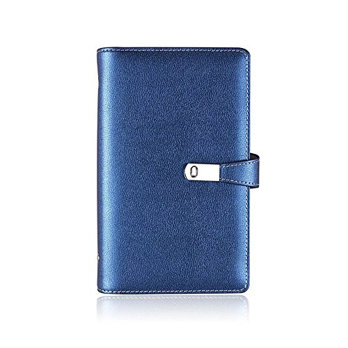 - Office Business Card Organizer Book Folder Hold 180 Cards Portable Travel Credit Card Case PU Leather Booklet Holder (Navy Blue)