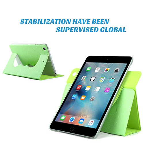 ULAK Ultra Slim 360 Rotating Smart Sleep / Wake Stand Case for Apple iPad Mini 1 / 2 / 3 - Green Photo #7