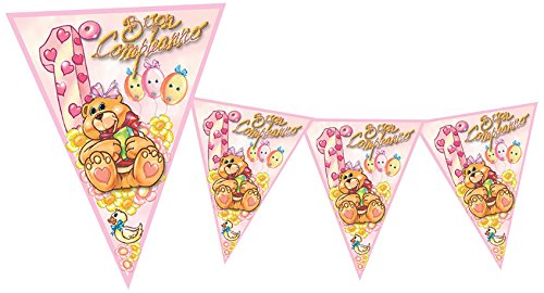 (magic Party BA05–Flag First Birthday, 3.6mt, Pink)