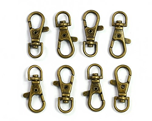 - ALL in ONE Lobster Claw Swivel Clasps Lobster Snap Clasp Hook for Key Ring DIY Craft Jewelry Making 1-1/2