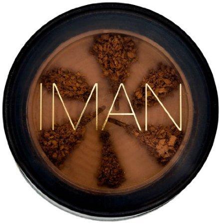 IMAN Cosmetics Second To None Semi Loose Powder, Clay Medium Dark .21oz - Clay Medium Dark Powder