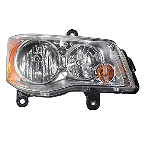 Passengers Halogen Headlight Headlamp Lens Replacement for Chrysler Dodge Van 5113336AE - Dodge Van Headlight Assembly