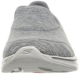 Skechers Performance Women\'s Go Walk 4 Achiever Walking Shoe, Gray, 9.5 W US