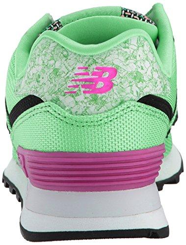 New Balance Womens 574v1 Kunst School Sneaker Agave / Poisonberry