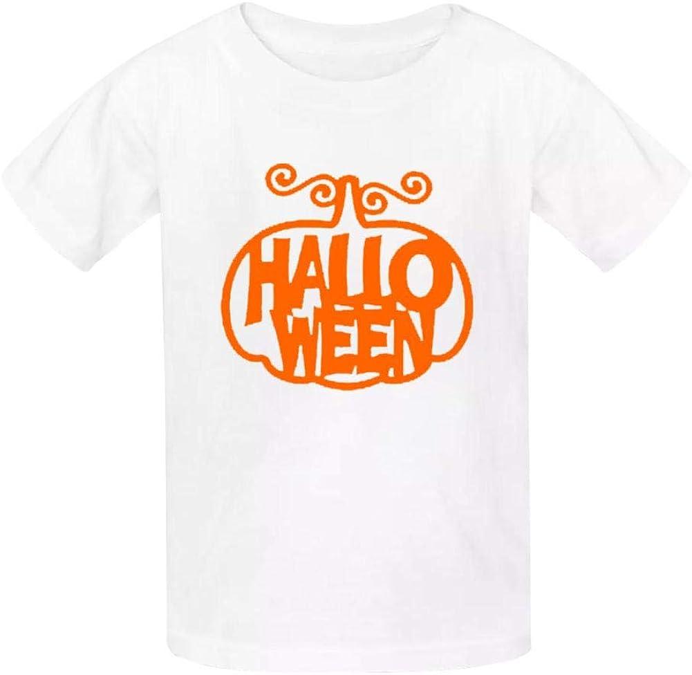 Dan-Wood Halloween Jack O Lantern Pumpkin Evil Youth Kids T-Shirts Cotton Fashion Graphic Print Tee