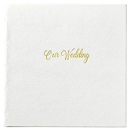 Our Wedding Journal White Full Grain Leather by Graphic Image™ -