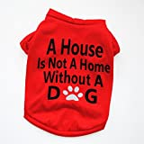Pet Shirts Super Cute Printed Puppy T Shirt Dogs Clothes Vest Summer Tops Apparel