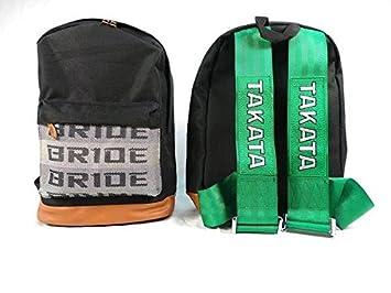 Amazon.com : JDM Bride Racing Backpack Seat Fabric Detachable Straps