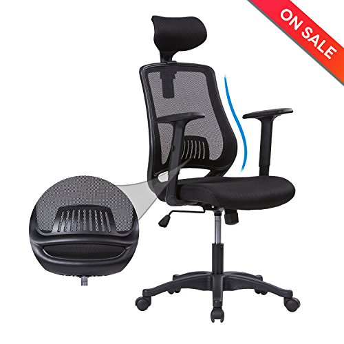 lch high back mesh office chair adjustable pu armrests and