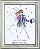 Design Works - Wedding Couple (2589) - Counted Cross Stitch Kit - 11 by 14 Inches - with Gift Card