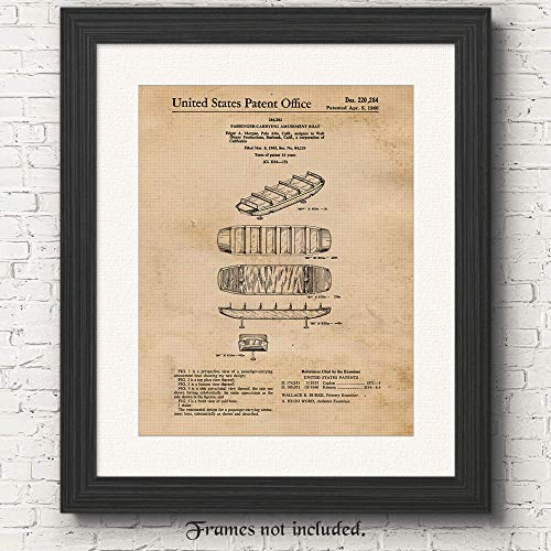 - Original It's a Small World Disney Ride Patent Poster Print - Set of 1 (One 11x14) Unframed Picture - Great Wall Art Decor Gifts Under $15 for Home, Office, Studio, Student, Amusement Park Ride Fan