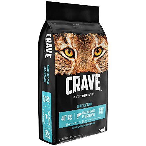 Crave Grain Free Dry Cat Food with Protein From Salmon and Ocean Fish Bag 10 lb.