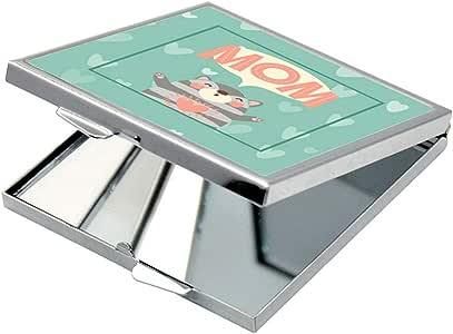 مرآة جيب، بطبعة امي ، شكل مربع