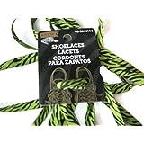 Black & Green Shoelaces, 109cm, lacets noir & vert
