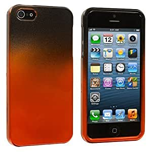Accessory Planet(TM) Black / Orange Two-Tone Hard Snap-On Crystal Case Cover for Apple iPhone 5 / 5S by mcsharks