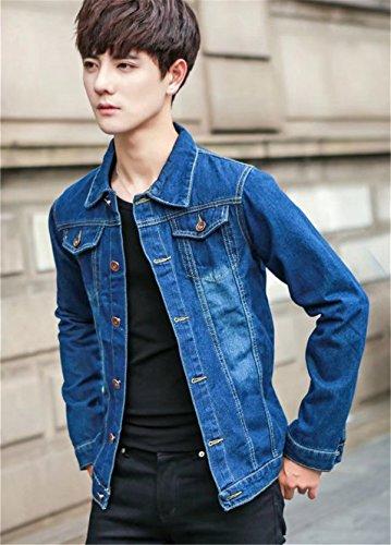 Jothin Autunno Manica Bavero Uomo Lunga Vintage 2018 Giacca Elegante Jeans Casual Cappotto Giacche Larghi Coat UwfqBf4