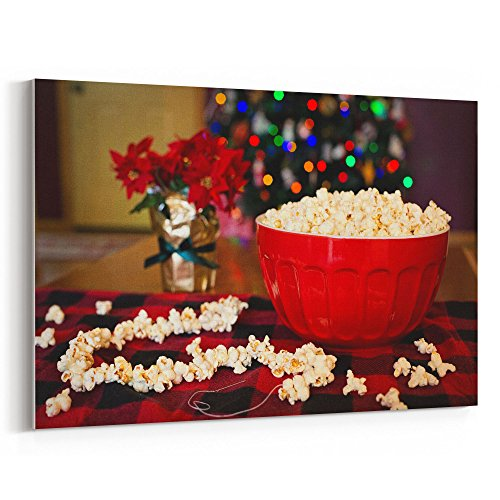 Westlake Art - Popcorn Snack - 24x36 Canvas Print Wall Art - Canvas Stretched Gallery Wrap Modern Picture Photography Artwork - Ready to Hang 24x36 Inch ()