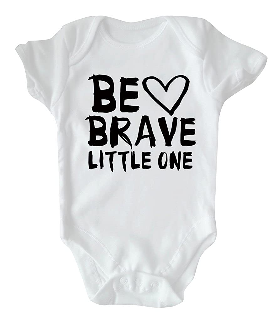 RPS White Slogan Baby Vest: Be Brave Little One