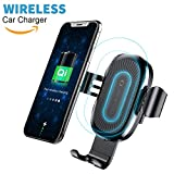 qi vent - Qi Wireless Car Charger Mount, Baseus Gravity Car Mount Air Vent Phone Holder, Fast Charge for Samsung Galaxy S8 S7/S7 Edge, Note 8 5, Standard Charge for iPhone X, 8/8 Plus and Qi Enabled Devices
