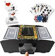 fugongyan Playing Card Shuffler, Automatic Poker Card Shuffler, Automatic Battery Operated 2 Deck Playing Card