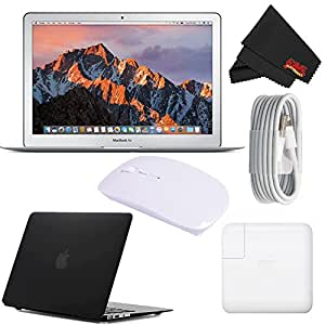 "Apple 13.3"" MacBook Air 256GB SSD #MQD42LL/A (Newest Version 2017 Model) Black Bundle"