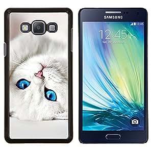 LECELL--Funda protectora / Cubierta / Piel For Samsung Galaxy A7 A7000 -- Gatito lindo bebé ojos de gato negro para mascotas --