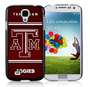 Southeastern Conference SEC Football Texas A&M Aggies 04 Black Case Cover for Samsung Galaxy S4 i9500 Grace and Cool Design