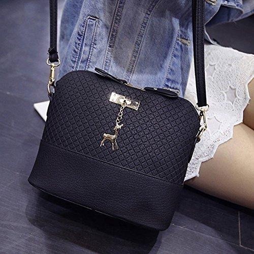 Mini Women Pu Fashion Shoulder Bag Jiacheng29 Leather Crossbody Bag Black Shell Shape Messenger Y4aRxqw
