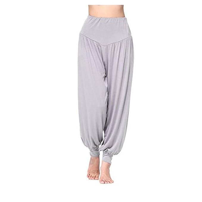 molto carino eabc5 e5345 Stong- Pantaloni Donna da Yoga Pantaloni da danza in viscosa super morbida  Corsari da donna per Yoga rosa rossa M