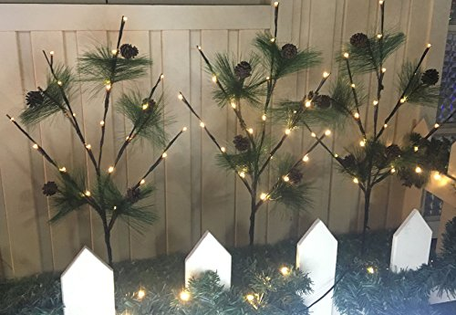 Pine Tree Outdoor Pathway Lights