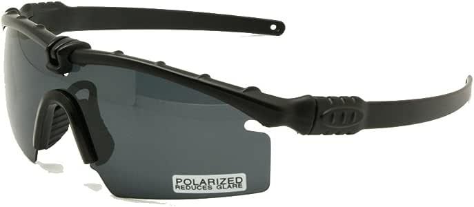 EnzoDate Gafas de Sol polarizadas Gafas de Militares del ejército los Hombres Frame 3/4 Lente Agencia de Juego de Guerra eyeshields(Negro, 3 Lentes): Amazon.es: Deportes y aire libre