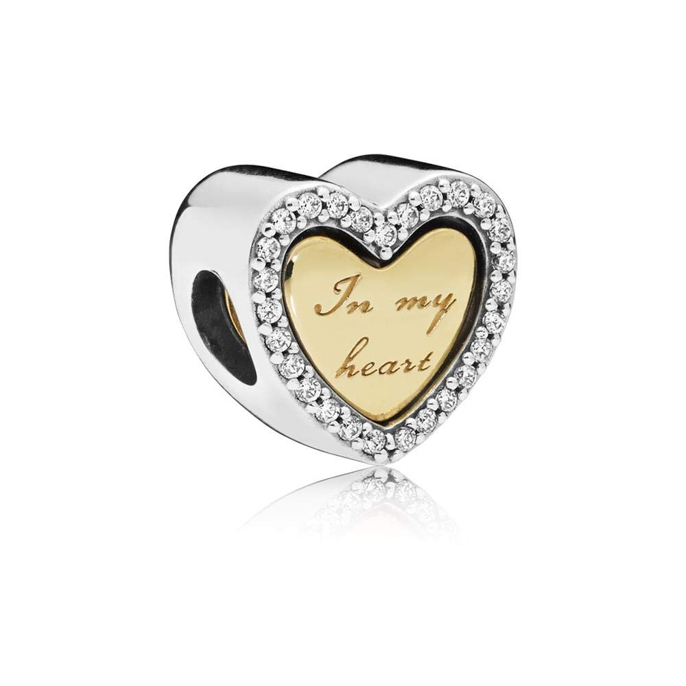 PANDORA In My Heart 18k Gold Plated PANDORA Shine Collection Charm - 767606CZ
