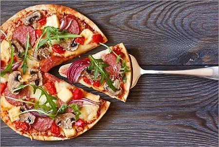 Posterlounge Cuadro de PVC 60 x 40 cm: Pizza with Salami and arugula de Editors Choice