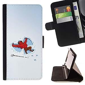 Momo Phone Case / Flip Funda de Cuero Case Cover - Funny Snow Angels Devil - Samsung Galaxy Note 5 5th N9200