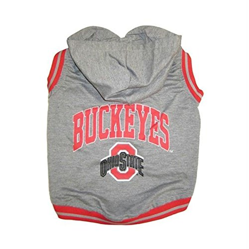 Ohio State Buckeyes Pet Hoodie Tee Shirt - Small by Pet Care Preferred