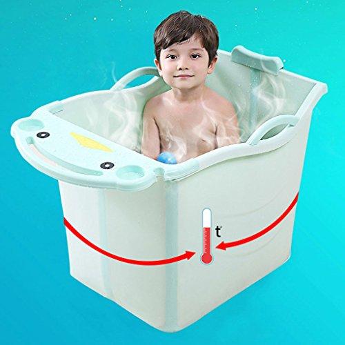 Bañeras de bebé Cubo de baño para niños rectángulo plástico Plegables Equipamiento de Baños