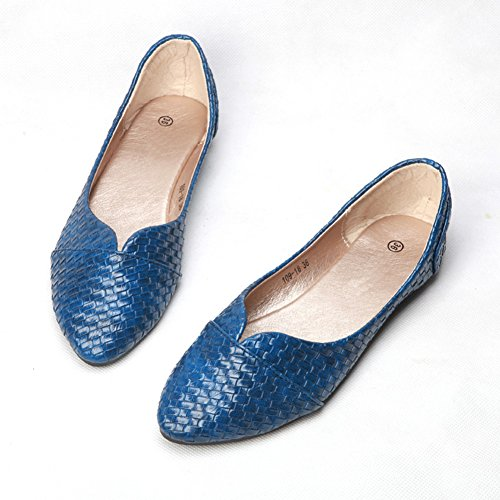 NO fereshte 277 on Pointed Shoes Comfy Ballet Blue Women's Flats Toe Slip Casual FFvpBTqW